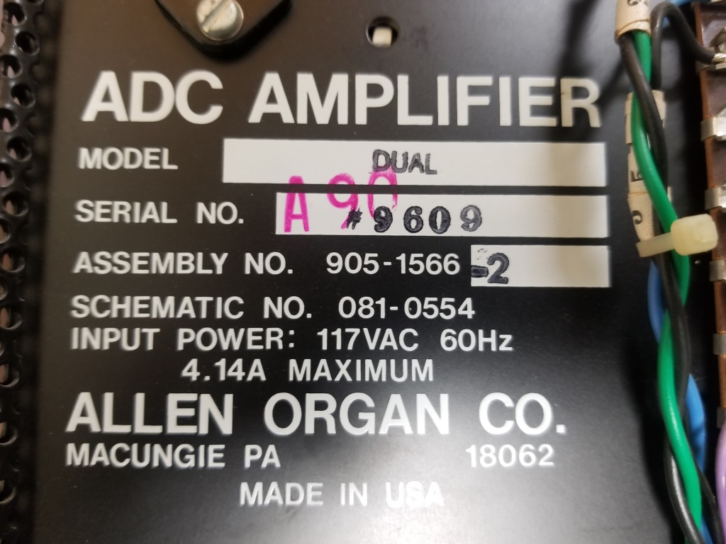 Allen ADC 2 channel amplifier