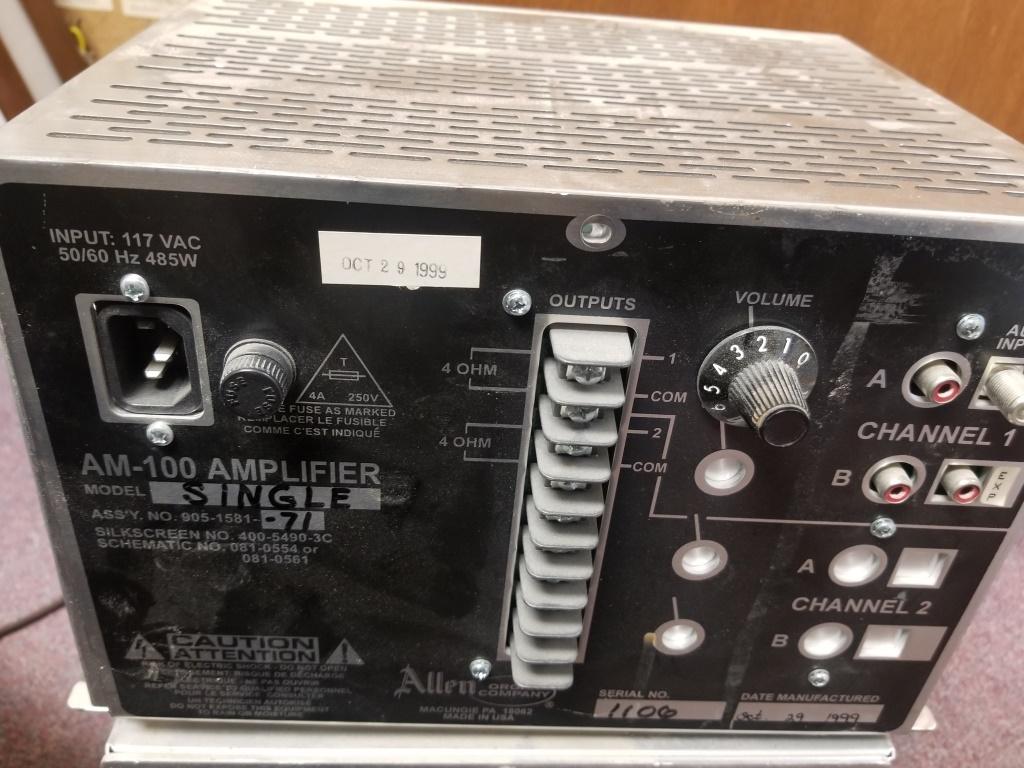 Allen AM-100 Single Channel Amplifier